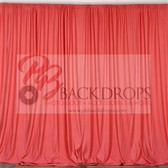 10 ft x 10 ft Polyester Professional Backdrop Curtains Drapes Panels - Coral