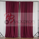 10 ft x 10 ft Polyester Professional Backdrop Curtains Drapes Panels -Burgandy