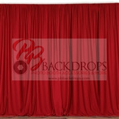 10 ft x 10 ft Polyester Professional Backdrop Curtains Drapes Panels -Red