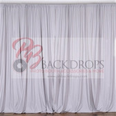 10 ft x 10 ft Polyester Professional Backdrop Curtains Drapes Panels -Silver