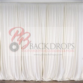 10 ft x 10 ft Polyester Professional Backdrop Curtains Drapes Panels -Ivory