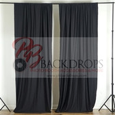 10 ft x 10 ft Polyester Professional Backdrop Curtains Drapes Panels -Black