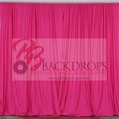 10 ft x 10 ft Polyester Professional Backdrop Curtains Drapes Panels -Fuschia