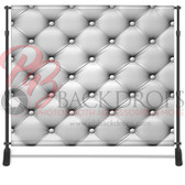 8x8 Printed Tension fabric backdrop (White Leather)