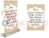 "Elegant Table Top Retractable (Return Prop Rhyme)11.5""x17.5"""