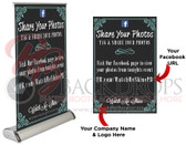 "Social Media Table Top Retractable (Share Your Photos)11.5""x17.5"""