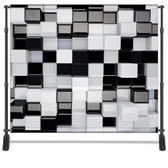 8x8 Printed Tension fabric backdrop (Black and White 3d Cubes)