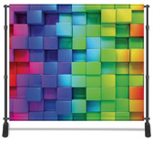 8x8 Printed Tension fabric backdrop (Color 3d Cubes)