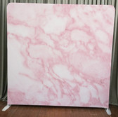 Single Sided Pillow Cover Backdrop  (Pink Marble)
