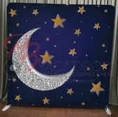 Single Sided Pillow Cover Backdrop  (Moon and Stars)