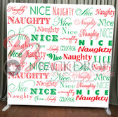 Single Sided Pillow Cover Backdrop  (Naughty-Nice)