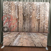 Single Sided Pillow Cover Backdrop  (Wood wall-floor holiday)