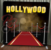 Single Sided Pillow Cover Backdrop  (Red Carpet Hollywood)