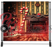 8x8 Printed Tension fabric backdrop (Candy Cane Christmas)