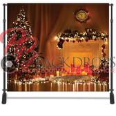 8x8 Printed Tension fabric backdrop (Christmas Lights)