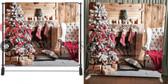 8x8 Printed Tension fabric backdrop (Christmas Stockings)