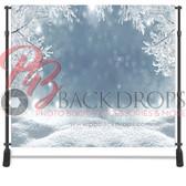 8x8 Printed Tension fabric backdrop (Winter Wonderland)