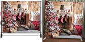 Single Sided Pillow Cover Backdrop  (Christmas Stockings)