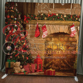 Single Sided Pillow Cover Backdrop  (Christmas Tree Glow)