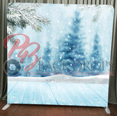Single Sided Pillow Cover Backdrop  (Falling Snow)