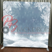Single Sided Pillow Cover Backdrop  (Winter Wonderland)