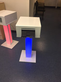 Printer Stand with Printer Cover, LED Lights and Remote