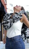 SUPER Sized Featherless Boa - (Black and White)