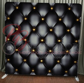 Single Sided Pillow Cover Backdrop  (Black Leather)