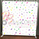 Single Sided Pillow Cover Backdrop  (Colorful Confetti)