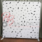 Single Sided Pillow Cover Backdrop  (Black and White Confetti)