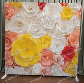 Single Sided Pillow Cover Backdrop  (3D Color Flowers)