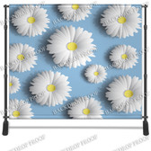 8x8 Printed Tension fabric backdrop (3D Daisies)