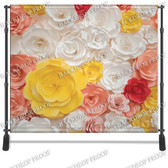 8x8 Printed Tension fabric backdrop (3D Color Flowers)