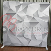 Single Sided Pillow Cover Backdrop  (Grey Geometric)