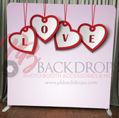 Single Sided Pillow Cover Backdrop  (Love Hearts)
