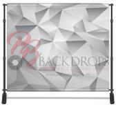 8x8 Printed Tension fabric backdrop (Grey Geometric)