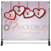 8x8 Printed Tension fabric backdrop (Love Hearts)