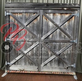 Single Sided Pillow Cover Backdrop  (Barn Door)