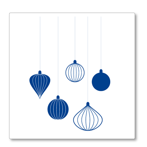 Christmas Baubles Decoration wall decal - Classic