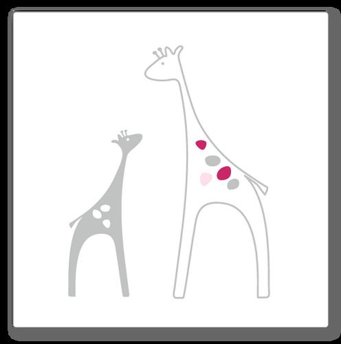 Giraffes (mini) wall decal