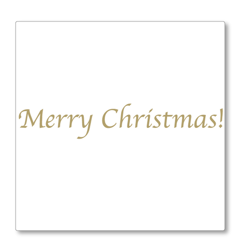 Merry Christmas Greeting - Traditional wall decal