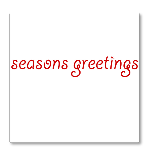 Seasons  Greetings Shop Window sign