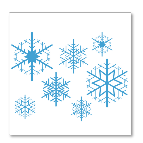 Snowflakes Christmas Decoration decal