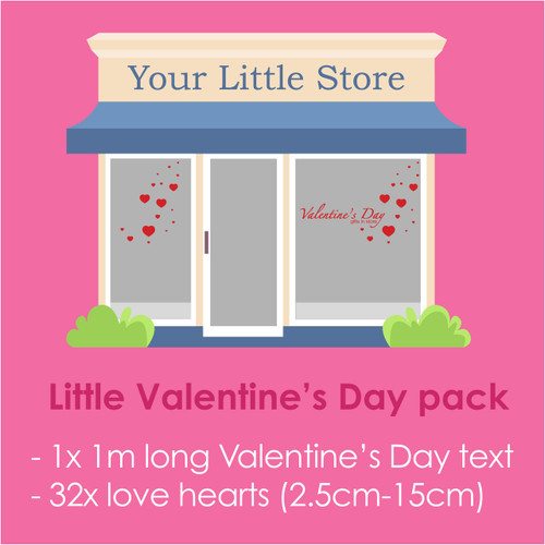 Valentine's Day decal pack for shop windows