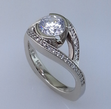 Diamond Engagement Wedding Ring