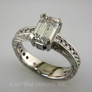 Ladies white gold diamond engagement ring- wed 286