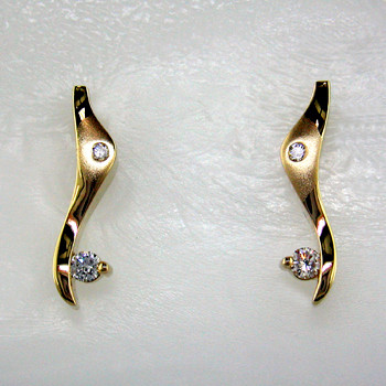 for jewelry j l round white karat stud sale crafted in carat id gold total earrings diamond