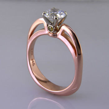 rose gold diamond solitare engagement ring plymouth mn