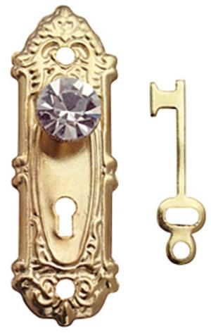Fancy Crystal Door Knobs - Set of 2 with keys
