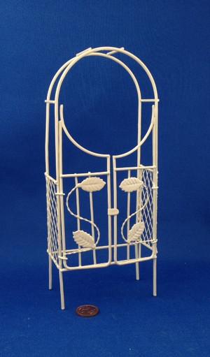 Dollhouse/Fairy Garden Cream Wire Arbour